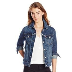 GAP size XS Stretch Distressed Jean Jacket